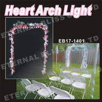 garden arch designs crystal led metal wedding arch