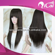 Glueless 100 brazilian virgin hair full lace wigs,cheap silk top full lace wigs with bangs
