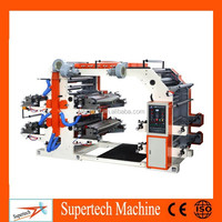 Used High Speed 4 Color Flexo Printing Machine for Non Woven Fabric