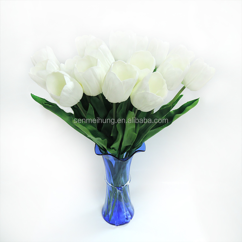 Pu artifical flower of White tulip for home decoration