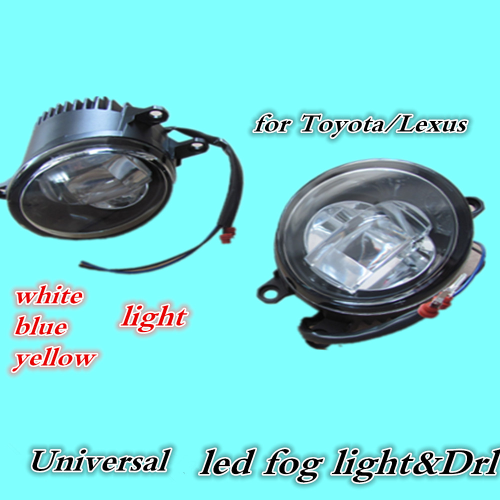 Universal Led Drl Fog Light Daytime Running Light For Toyota Cars New