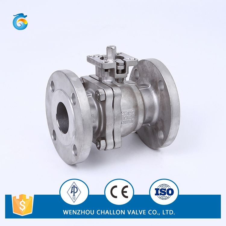 2pc ball valve flanged end with direct mounting pad factory price
