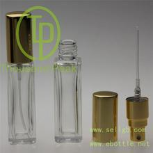 10ml square perfume glass bottle roll on glass bottle with plastic roller ball