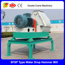 Hot sale 1-4 tons tear-drop feed hammer mill, grinder for poultry farm