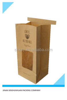 kraft paper bags with clear window and custom logo printing