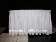 Polyester wedding table skirting table linen for wedding