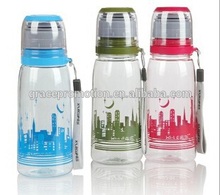 children plastic water bottle with screw lid and logo printing