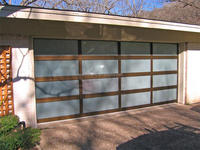 Wood frame sectional folding aluminum frame glass garage door window kit