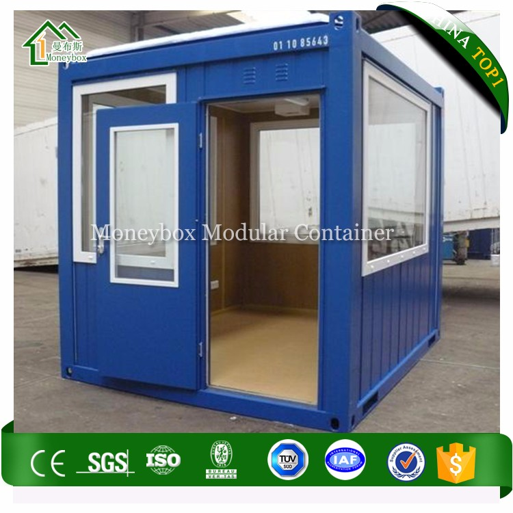 Low Cost Construction Site 10' Shipping Container Flat Pack Insulated