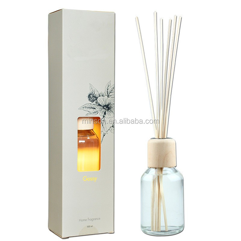 Decorative 100ml round glass bottle aroma reed diffuser for Decorative diffuser