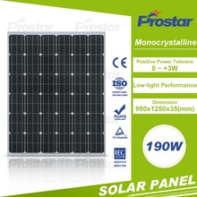 factory supply nice price monocrystalline 190w pv cell solar module