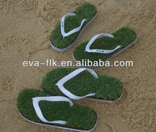 flip flop with artificial grass, grass slipper