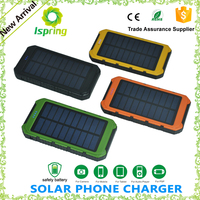universal solar power bank 8000mah battery charger solar power bank for all smart mobile phone with flashlight