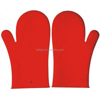 Kitchen Heat Insulation Safety Gloves Waterproof Protective Silicone Oven Gloves