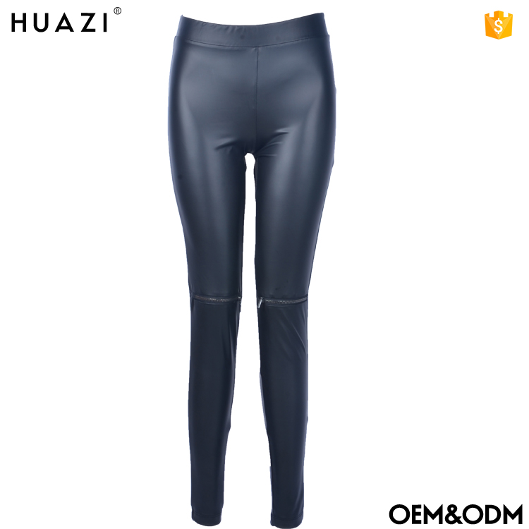 Hot girl fashion high waist sexy faux leather leggings