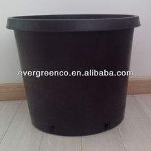 70Liter plastic gallon flower pot Black big flower pot PP garden pot