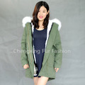 CX-G-P-08C 2016 New Fashion Rex Rabbit Fur Winter Parka with Fox Fur Trim