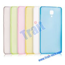 Simple and Plain Style High Quality Solid Color TPU Back Cover Case for XiaoMi Mi4