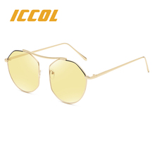 2018 yellow driving HD night vision reflective retro city premium quality sunglasses