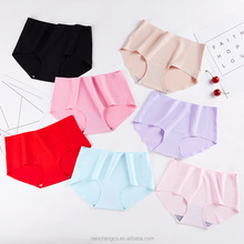 Wholesale hot sell multi color ice silk invisible seamless women panty