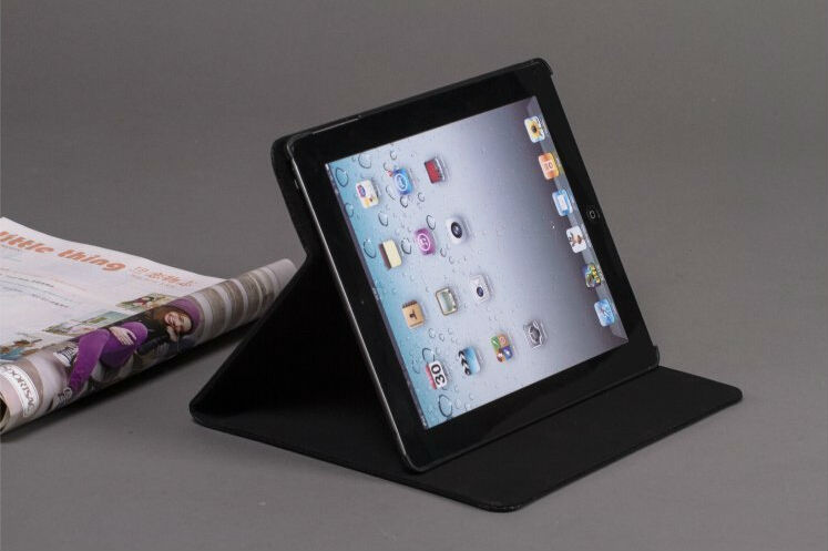 Luxury Pattern Magnetic with Stand Leather Case for iPad 4 3 2 New Smart Cover for iPad4 Best Microfibre Protection Inside