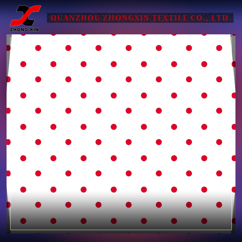 red dots design jogging stretch suit polyamide spandex fabric manufacturer