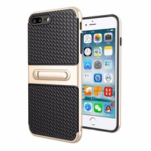 Mobile accessories cases mobile phone carbon fibre case with finger holder for iphone