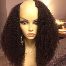 Factory Wholesale Price16 Silky Straight Color #2 Brazilian Hair U-Shaped Lace Wigs