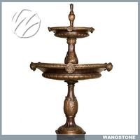 Vintage Two Layers Hotel Use Brass Water Fountain