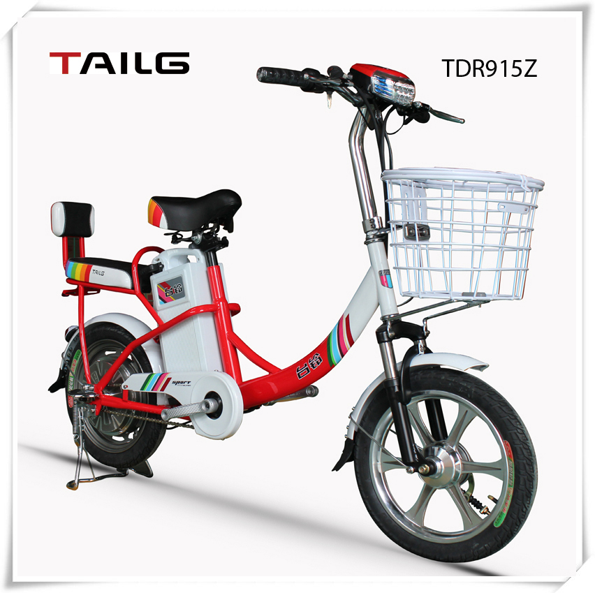 350w dongguan tailg electric bike 36v lead-acid battery pack ebike for sales nice electric motor for bicycle TDR915Z