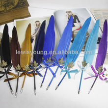Special colorful dip feather quill bird pen