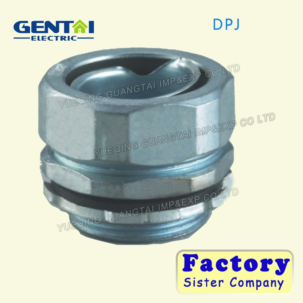 Zinc Alloy DPJ End Style Union Connector for Metal Flexible Corrugated Conduit Pipes