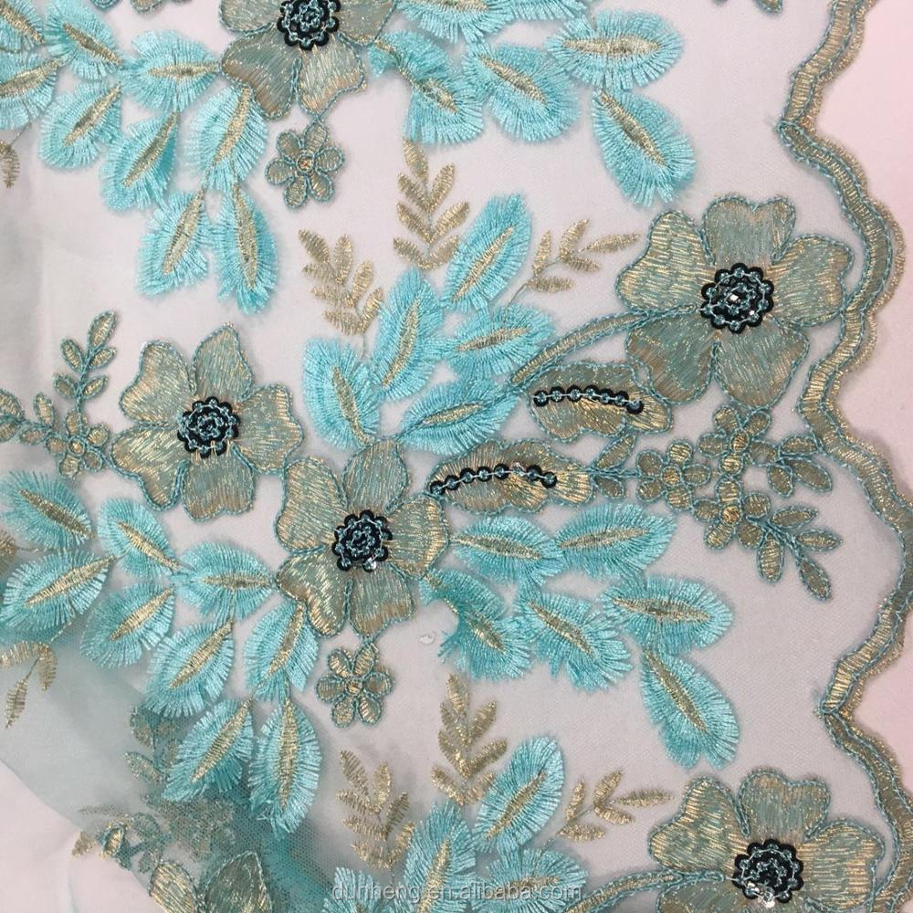 EMBROIDERY FABRIC 3D EMBOIDERY WITH SEQUIN FOR DRESS AND WEDDING