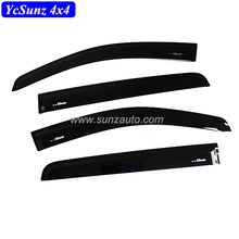 Injection Side Window Deflectors For Ranger T7 Abs Black Color Sun Visor Door visor For Ranger 2016