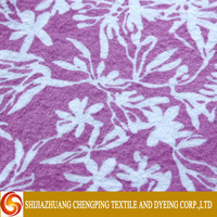 Soft Hand Feeling pattern customized reactive or solid printed 20x10 40x42 100% cotton Flannel fabric