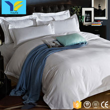 Made in china modern jacquard design hotel bed linen 100% cotton bed sheet bedding duvet cover set