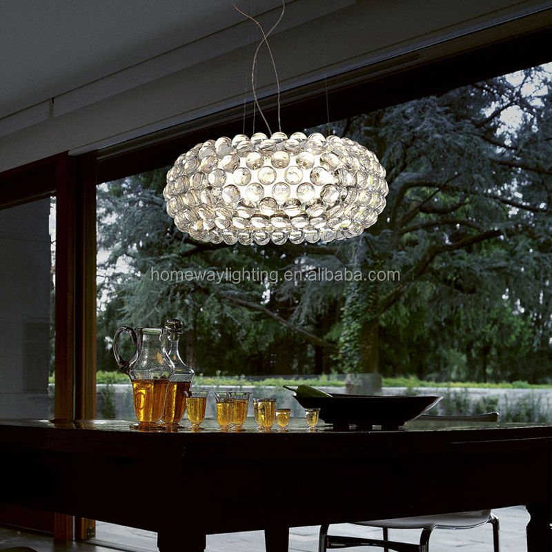 Modern decorative aluminum pendant light acrylic pendant lamp
