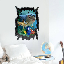 new Nemo shark children's room bedroom wall stickers removable waterproof wholesale trade ZY1438
