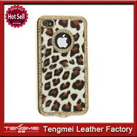 Luxury Leopard Cover For Apple iPhone 5 5S Aluminum Rhinestone Cover NEW!