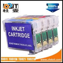 Hot in Russia T0911 T0911N inkjet refill cartridge for Epson Stylus C90 with ARC chips