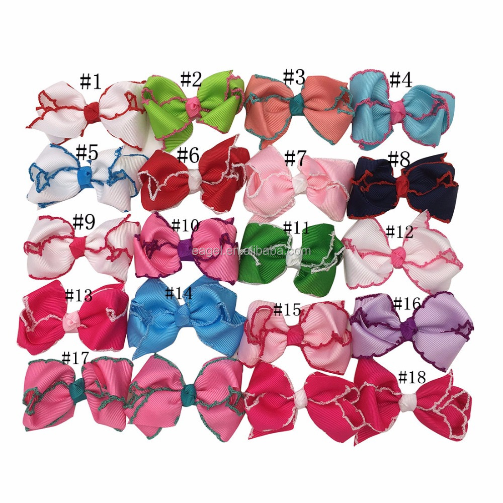 Baby Girl Grosgrain Hair Ribbon Bows With Alligator Clips Boutique Hairclips Hair Accesories