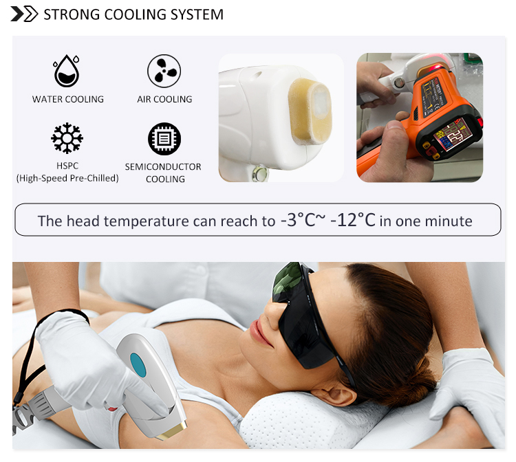 Portable 755Nm 808Nm 1064Nm 3 Wavelength Hair Removal Machine 808Nm Diode Laser Hair Removal