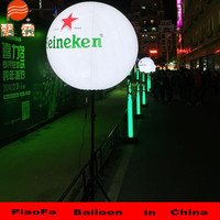 Fashion standing tripus LED balloon, glowing inflatable LED ball with tripod for ceremony