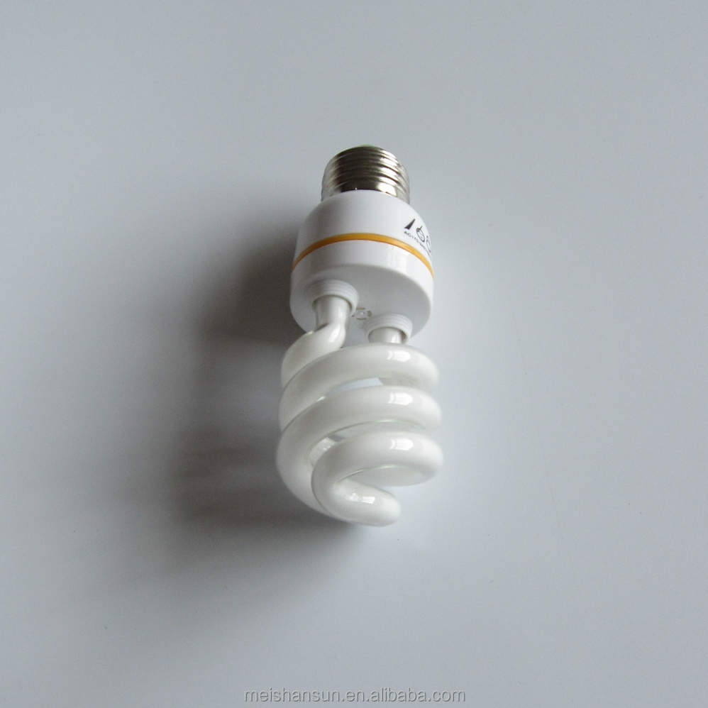 13w half spiral shape energy saving light bulb in zhongshan factory