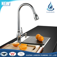 Brass pull out one handle deck mounted hotcold water kitchen faucet