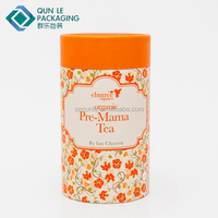 Custom Round Cardboard Canister Packaging for Tea