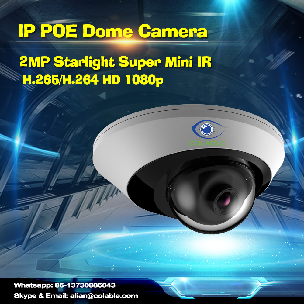 Cheap but quality HD COL-SV2251WUR1P 2MP Starlight Super Mini IR Dome Camera ip security camera system