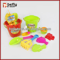 Hot sell plastic beach buckets and spades toy