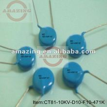 CT81 High voltage feed through ceramic capacitor 10KV 470PF