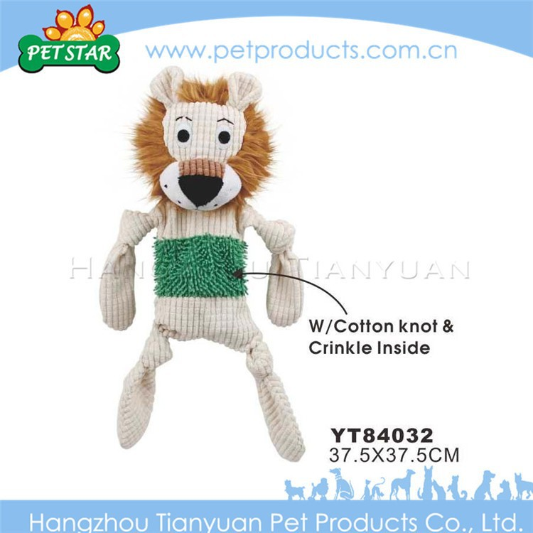 High quality plush custom dog toys with cotton knot crinkle inside